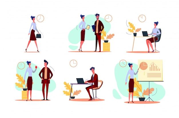 Werktag festgelegt Kostenlosen Vektoren