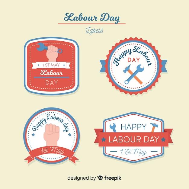 Werktags-label-sammlung Kostenlosen Vektoren