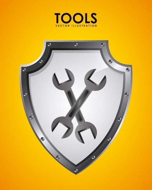 Werkzeug-emblem Kostenlosen Vektoren