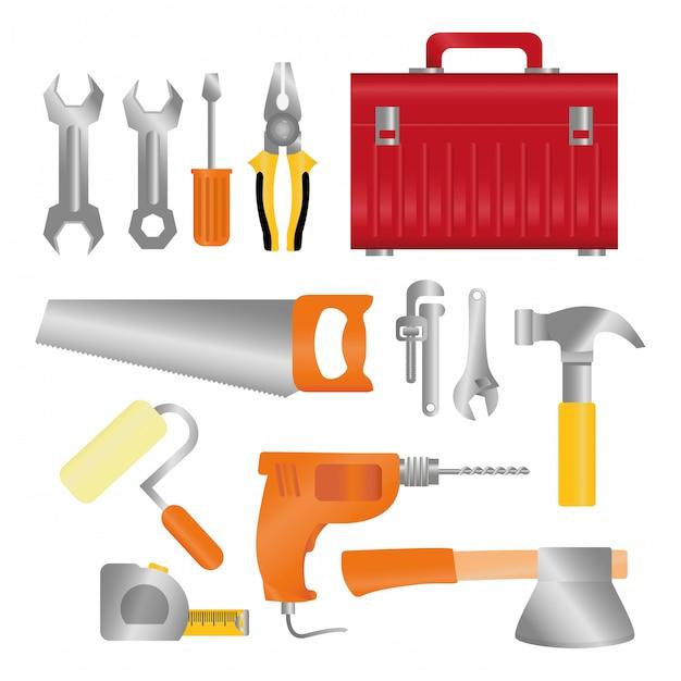 Werkzeugdesign. illuistration Premium Vektoren