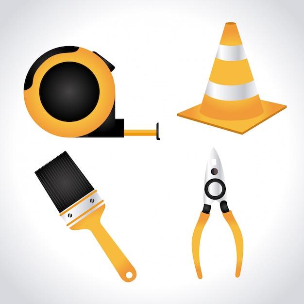 Werkzeugdesign Premium Vektoren