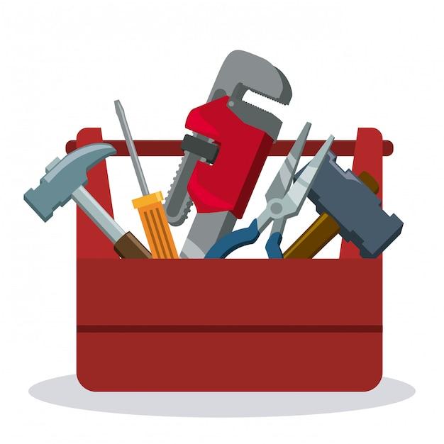 Werkzeugdesign. Premium Vektoren