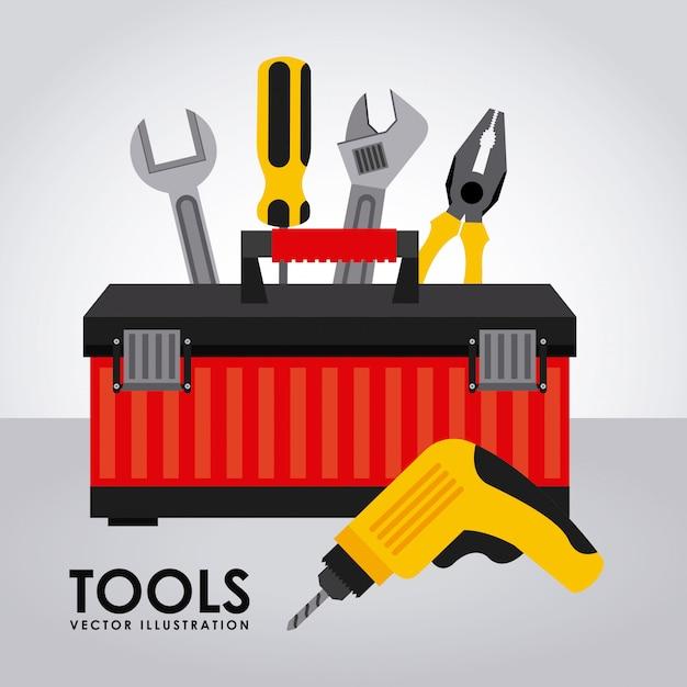 Werkzeuge einfaches element Kostenlosen Vektoren