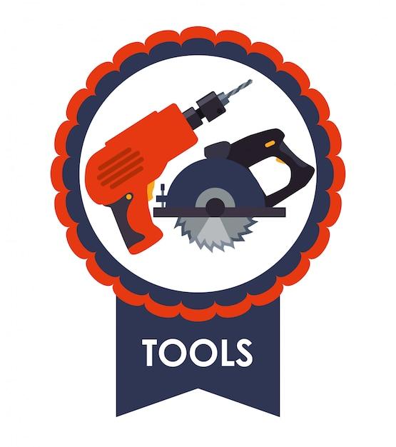 Werkzeugikonen entwerfen Premium Vektoren