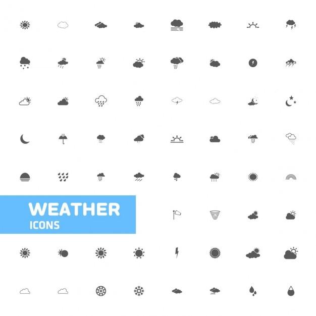 Wetter-icons Kostenlosen Vektoren