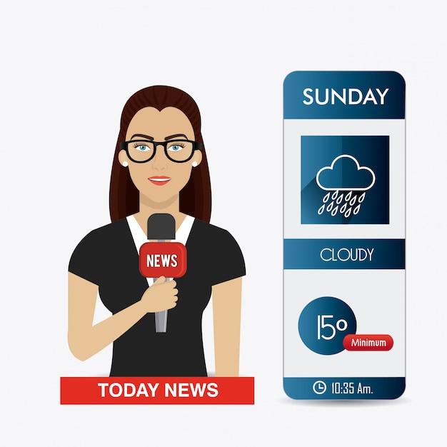 Wetter mobile app design. Premium Vektoren