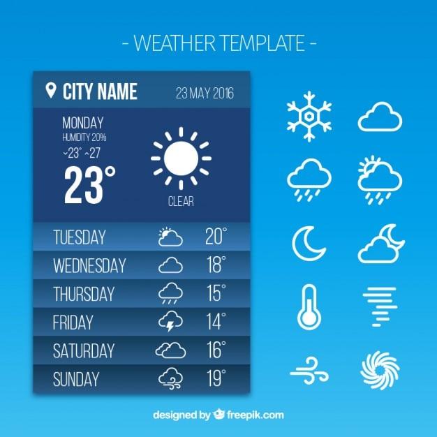 Wetterbericht app Kostenlosen Vektoren