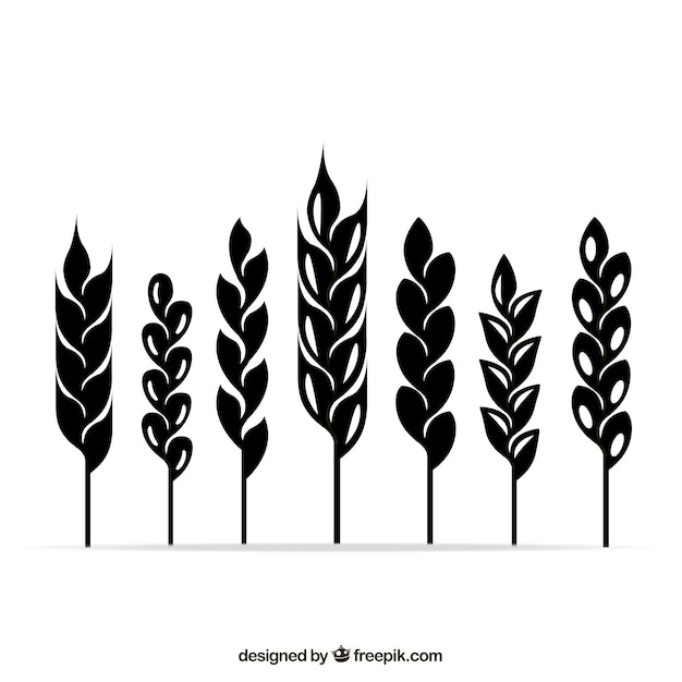 Wheat ears symbole Premium Vektoren