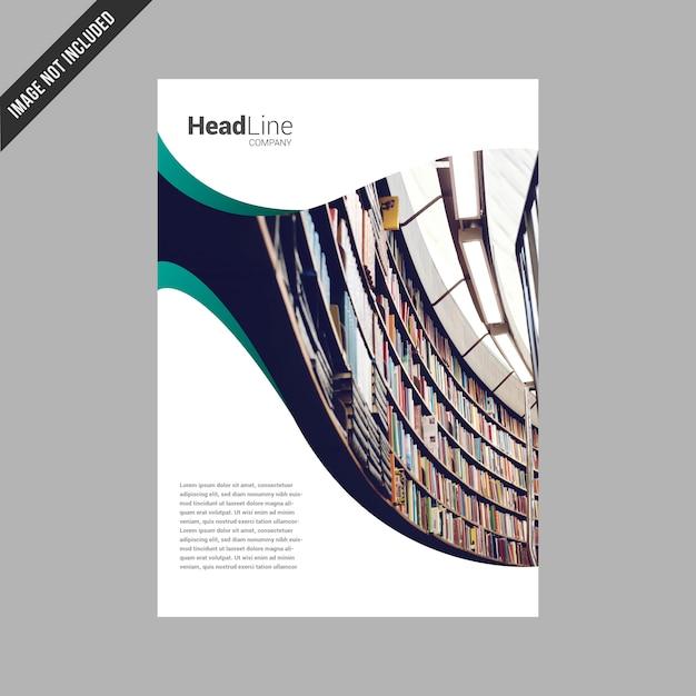 White business broschüre design Kostenlosen Vektoren