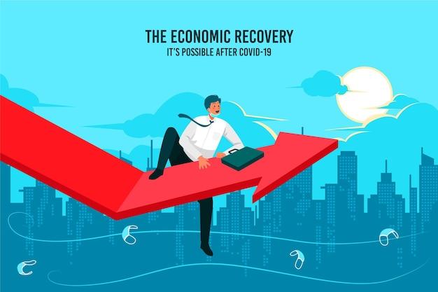 Wiedereröffnung der städtischen wirtschaft nach der krise Kostenlosen Vektoren
