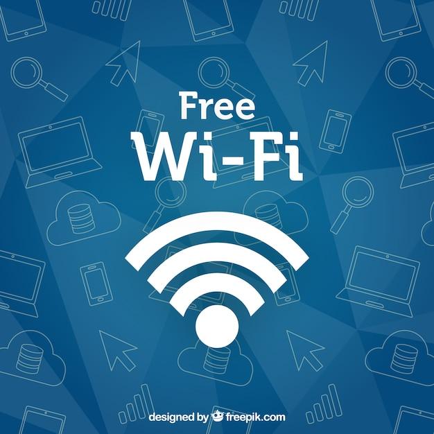 Wifi hintergrund mit skizzen Kostenlosen Vektoren