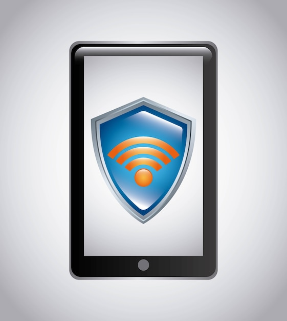 Wifi-verbindung service isoliert symbol Premium Vektoren