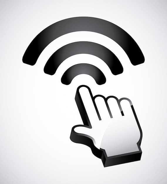 Wifi-zone design Premium Vektoren