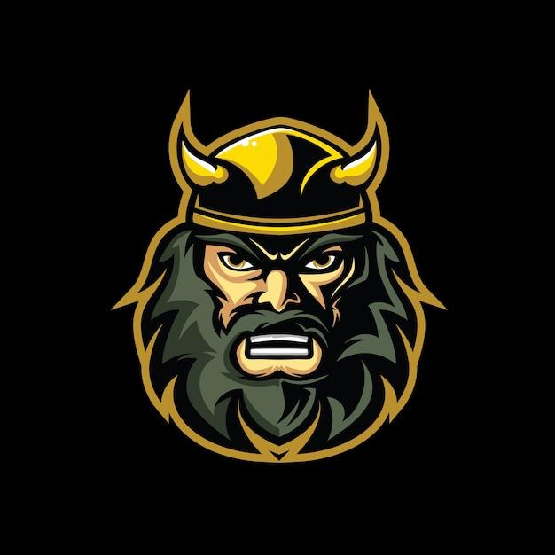Wikinger kopf charakter logo Premium Vektoren