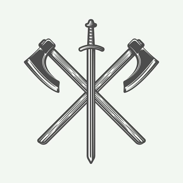 Wikinger-logo Premium Vektoren