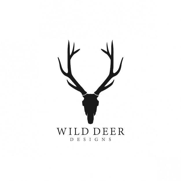 Wilder hirsch logo silhouette Premium Vektoren