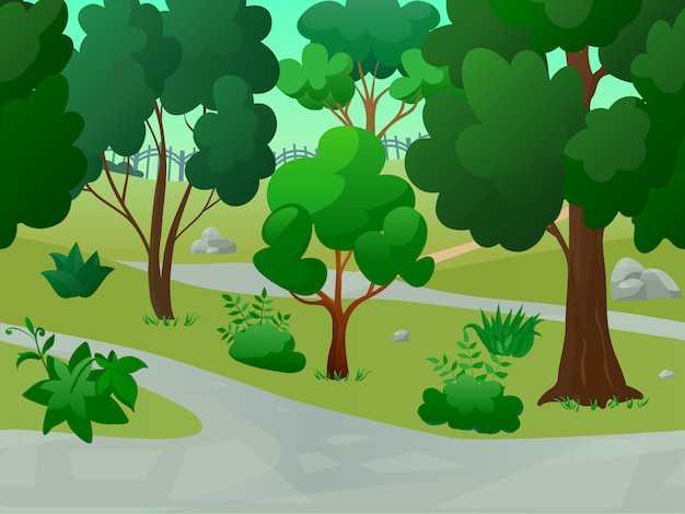 Wildparklandschaft Kostenlosen Vektoren
