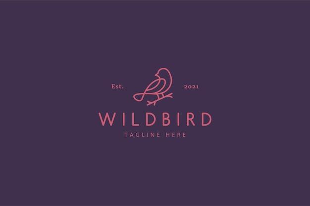 Wildvogel naturleben illustration logo Premium Vektoren