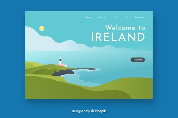 Willkommen auf der landing page von irland Kostenlosen Vektoren