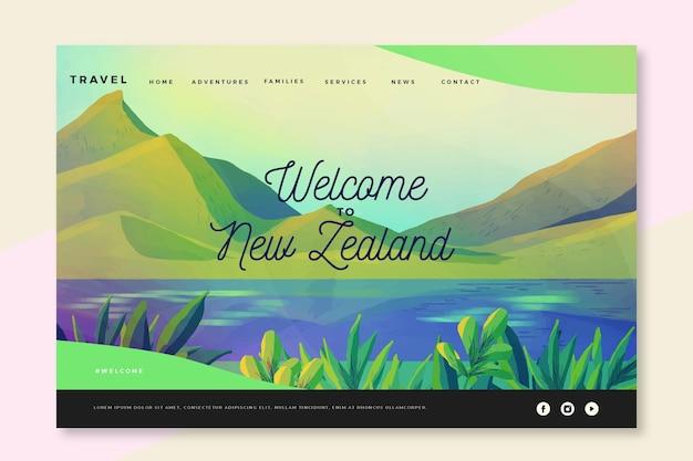 Willkommen auf der neuseeländischen landingpage Kostenlosen Vektoren