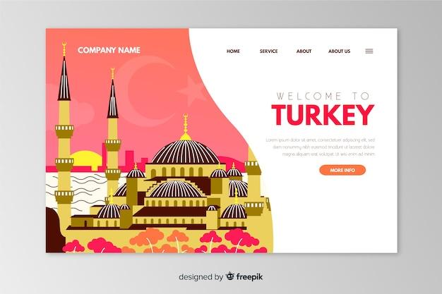 Willkommen bei der vorlage für die landingpage der türkei Kostenlosen Vektoren