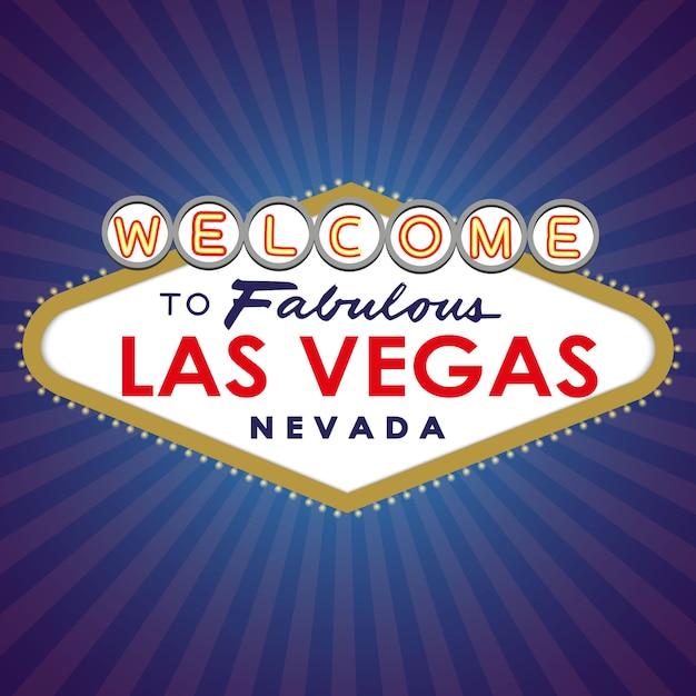 Willkommen bei fabulous las vegas sign Premium Vektoren