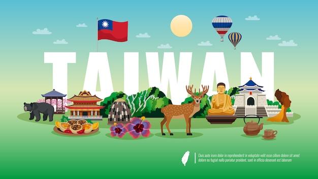 Willkommen bei taiwan banner Kostenlosen Vektoren