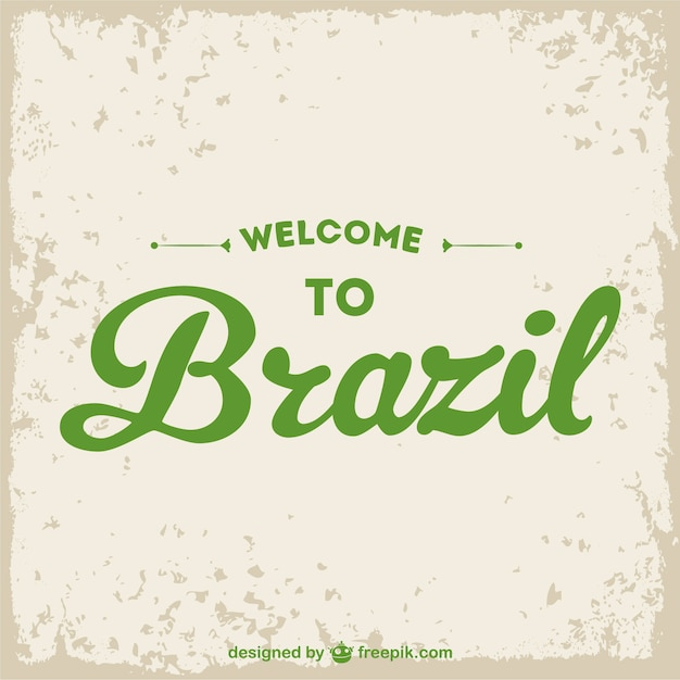 Willkommen in brasilien grunge-vektor- Kostenlosen Vektoren