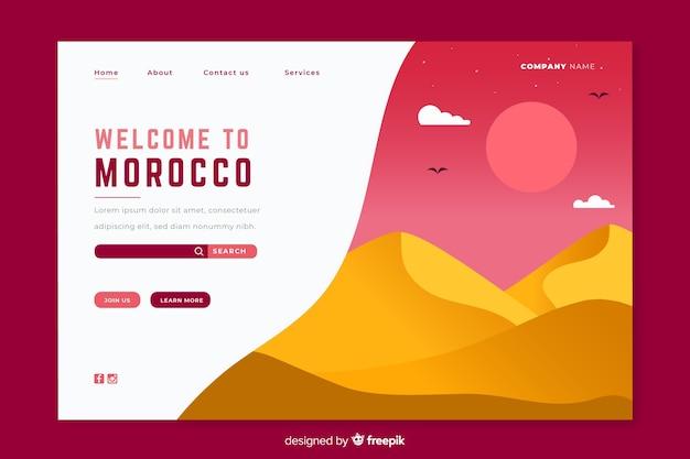 Willkommen in marokko landingpage-vorlage Kostenlosen Vektoren