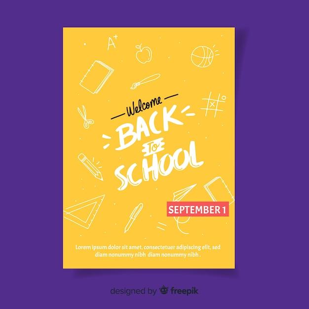 Willkommen zurück in der schule im september Kostenlosen Vektoren