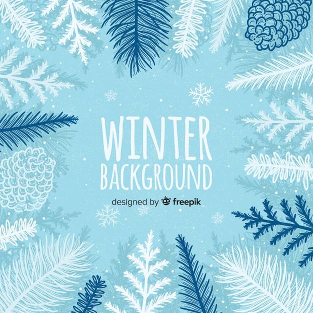 Winter hintergrund Kostenlosen Vektoren