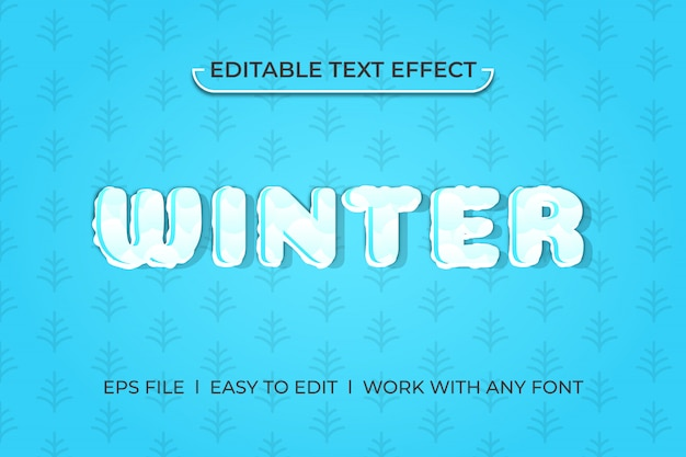 Winter kühlen texteffekt Premium Vektoren