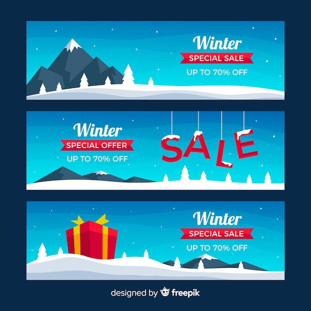 Winter sale banner Kostenlosen Vektoren