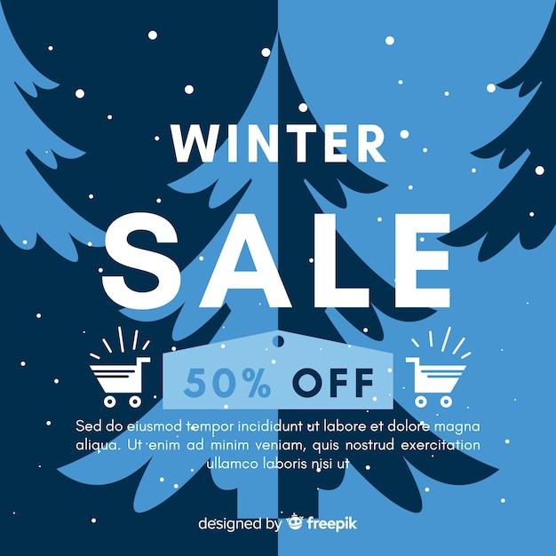 Winter sale hintergrund Kostenlosen Vektoren