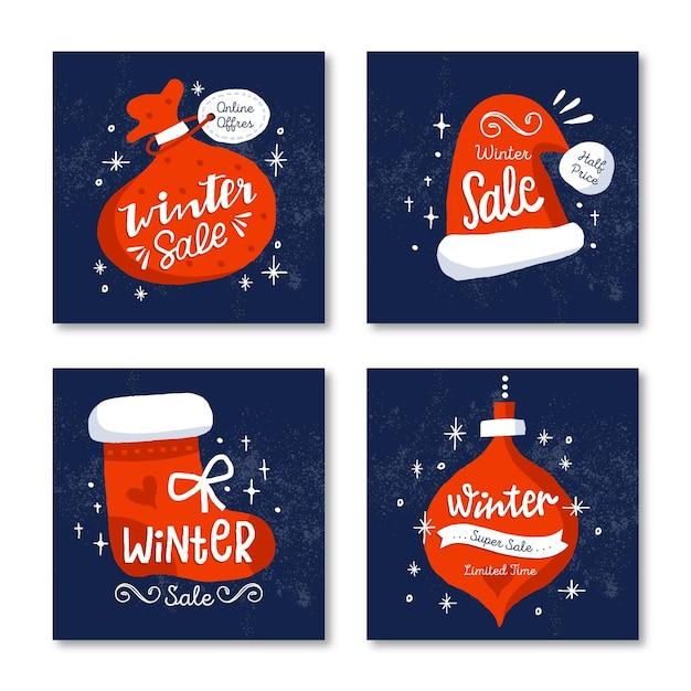 Winter sale instagram beiträge Kostenlosen Vektoren
