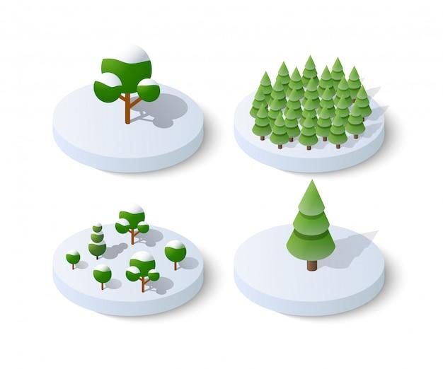 Winter schneebedeckten weihnachten symbol Premium Vektoren