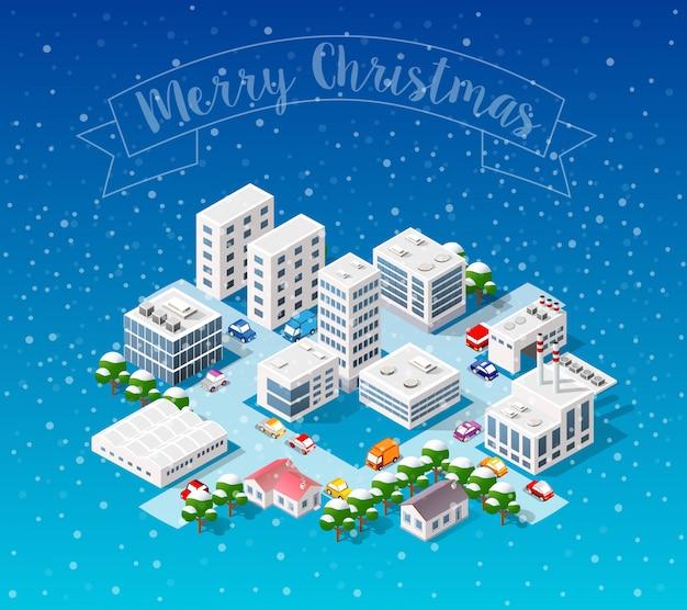 Winter weihnachten landschaft Premium Vektoren