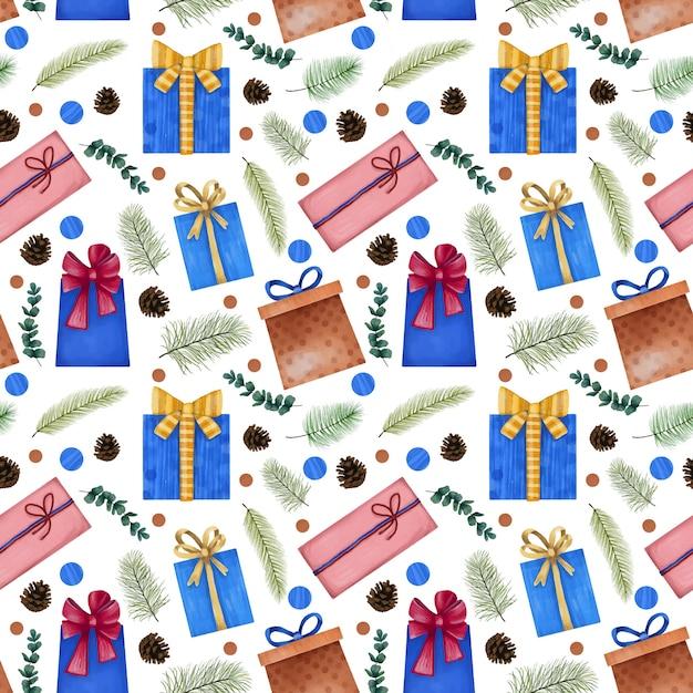 Winter weihnachten nahtlose textur Premium Vektoren