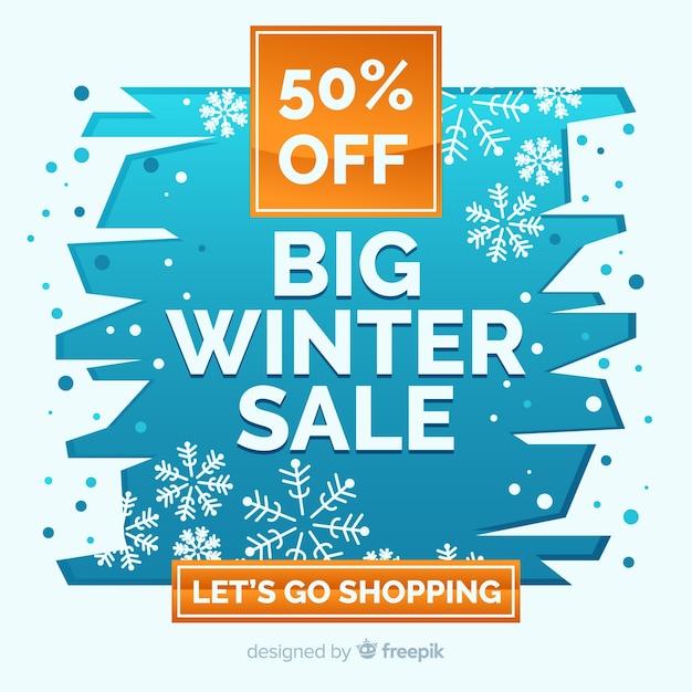 Winterschlussverkauf banner Kostenlosen Vektoren