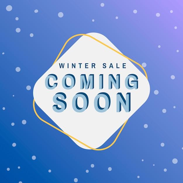 Winterschlussverkauf, der bald vektor kommt Kostenlosen Vektoren