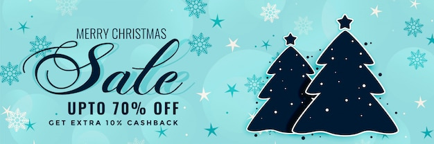 Winterschlussverkauf-fahnendesign der frohen weihnachten Kostenlosen Vektoren