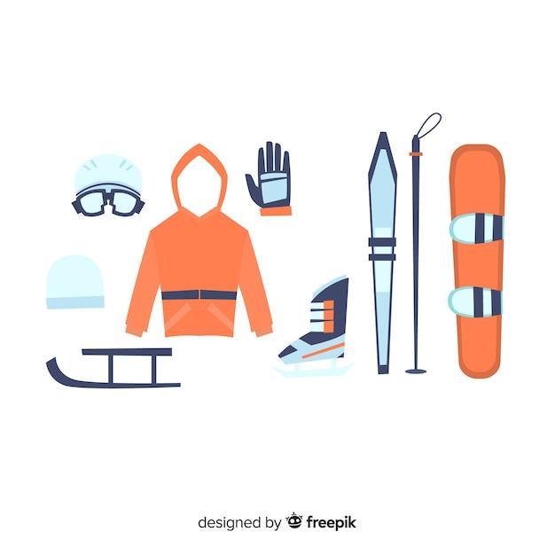 Wintersportausrüstung Kostenlosen Vektoren