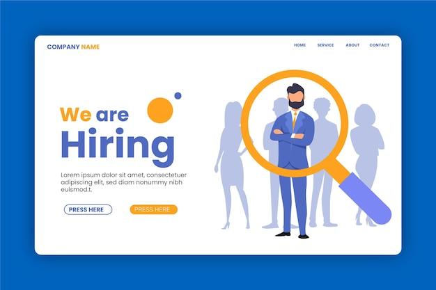 Wir suchen die rekrutierungs-landingpage Premium Vektoren