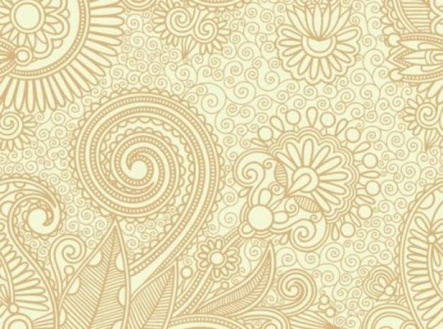 Wirbel Muster Im Vintage Stil Vektor Kostenlose Vektor