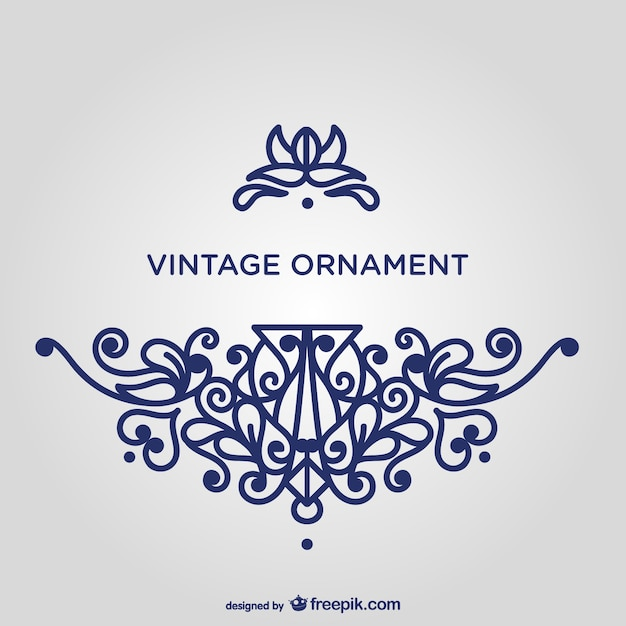 Wirbeln blaue ornament-vorlage Kostenlosen Vektoren
