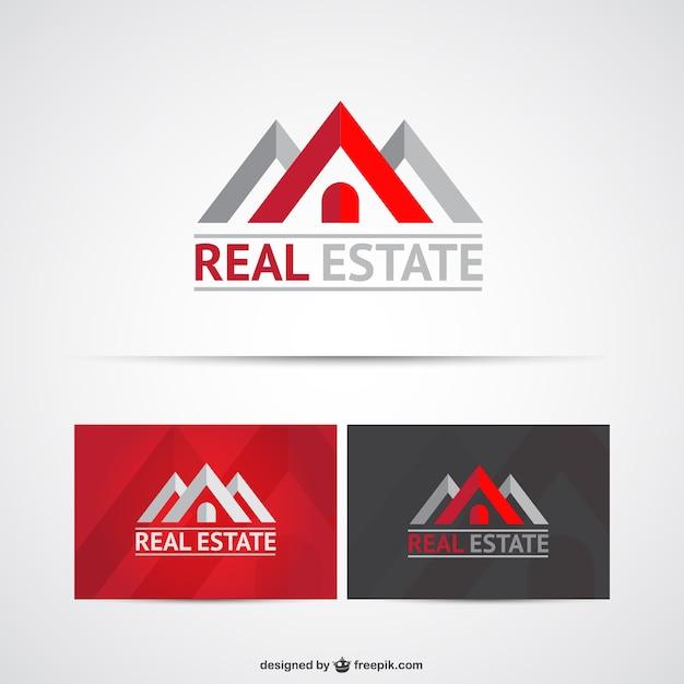 Wirklichen zustand logo-vorlagen Kostenlosen Vektoren