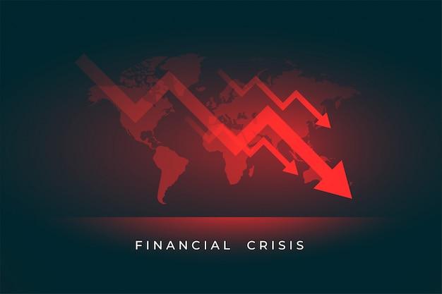 Wirtschaft aktienmarkt niedergang der finanzkrise Kostenlosen Vektoren