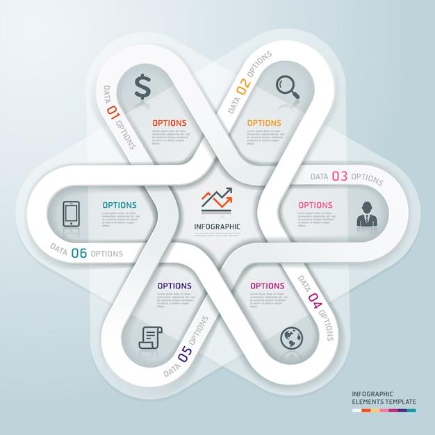 Wirtschaftskreis infografiken origami-stil. Premium Vektoren