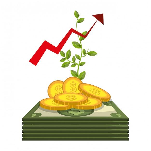 Wirtschaftswachstum Kostenlosen Vektoren