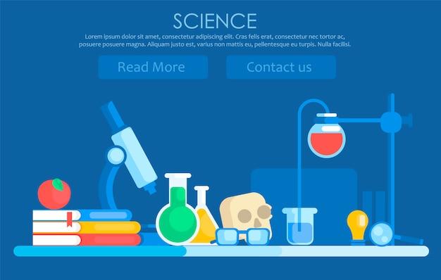 Wissenschaft banner Kostenlosen Vektoren